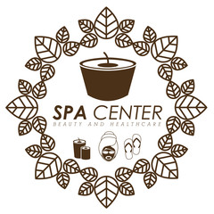 Spa design, vector illustration.