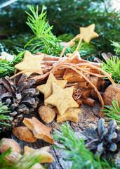 Ginger Stars Christmas Cookies