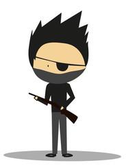 Doodle terrorist, bad guy - Full Color