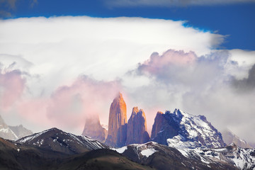 Three rock Torres del Paine