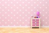 Fototapety pink room