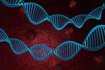 3d render of DNA molecules.
