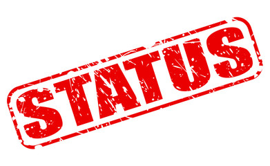 Status red stamp text