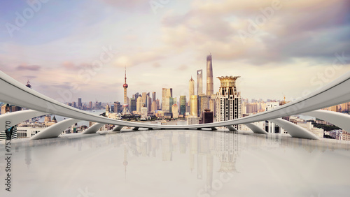 modern city skyline,traffic and cityscape in Shangha,China - 75324370