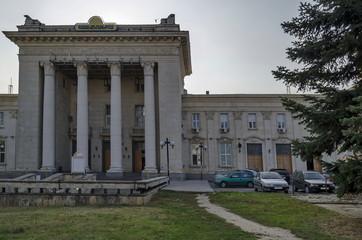 Railway station Ruse town, Bulgaria - building  exterior