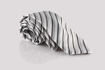 tie close up on white background