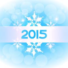 vector elegant 2015 new year on blue theme