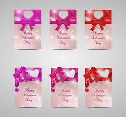 Set of six tags