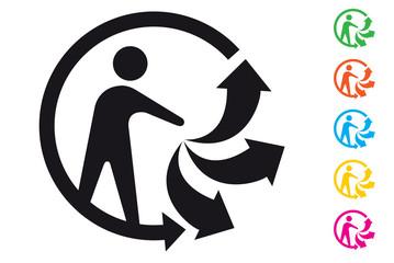 Triman - Logo tri sélectif des déchets