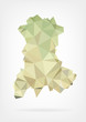 Low Poly map of french region Auvergne