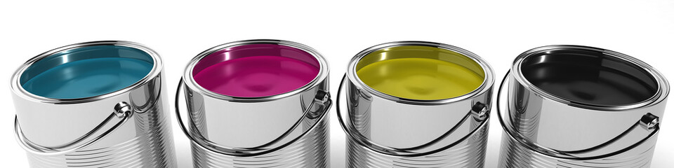 CMYK Color paint