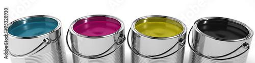 CMYK Color paint - 75328930