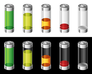 Set of Batteries in Colors