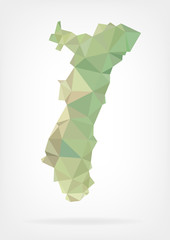 Low Poly map of french region Alsace