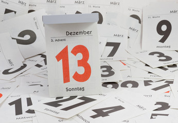 3. Advent, Abreisskalender