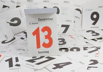 3. Advent, Abreisskalender