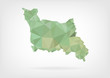 Low Poly map of french region Basse-Normandie