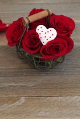 Rosenstrauß mit Herz