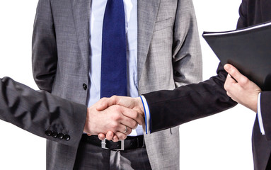 Detail of business handshake for a closing deal