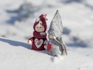 Wichtel im Schnee