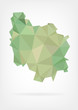 Low Poly map of french region Bourgogne