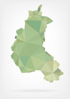 Low Poly map of french region Champagne-Ardenne