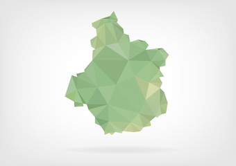 Low Poly map of french region Centre