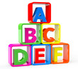Multicolour cubes as stand with ABC letters - 75333744