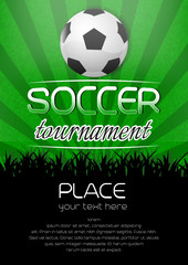 Soccer tournament background with ball