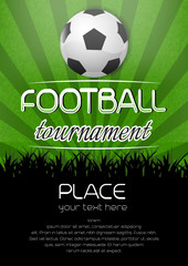 Football tournament background with place for your content