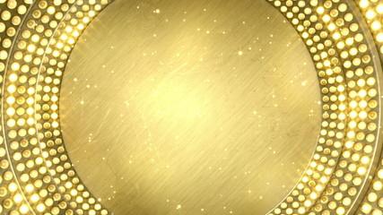 golden light bulbs festive loopable background