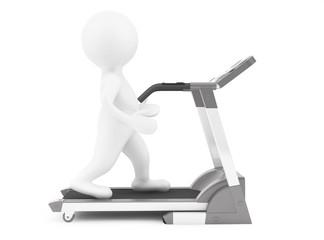 3d Person on Treadmill Machine