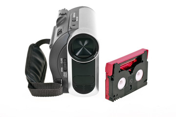 Digital video camera with tape