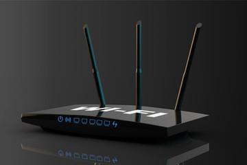 3d Modern WiFi Router
