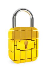 Credit Card Security Chip as Padlock