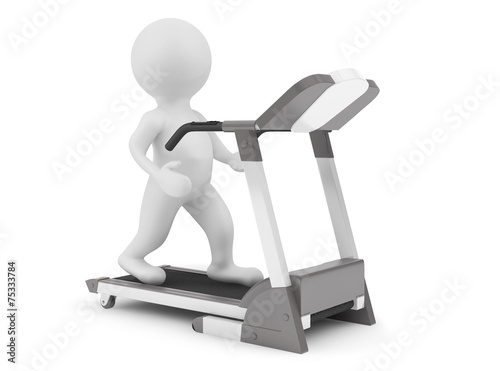 3d Person on Treadmill Machine - 75333784