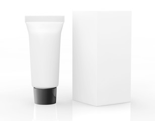 White Cosmetic tube with Package