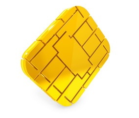 Golden SIM or Credit Card Microchipon