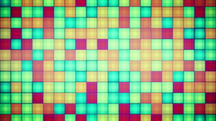 multicolored squares mosaic loopable background