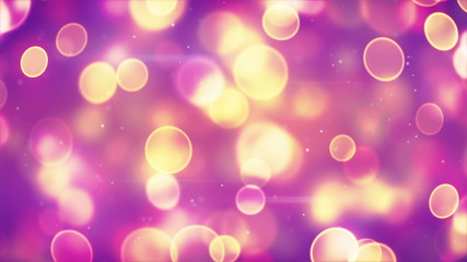 yellow circle bokeh lights on purple loopable background