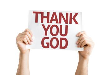 Thank You God card isolated on white background