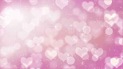 pink heart bokeh lights and stars loopable