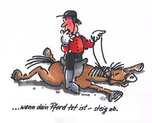 Wenn Dein Pferd tot ist - steig ab
