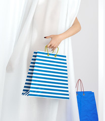 shopping woman holding bag sale conceptual background