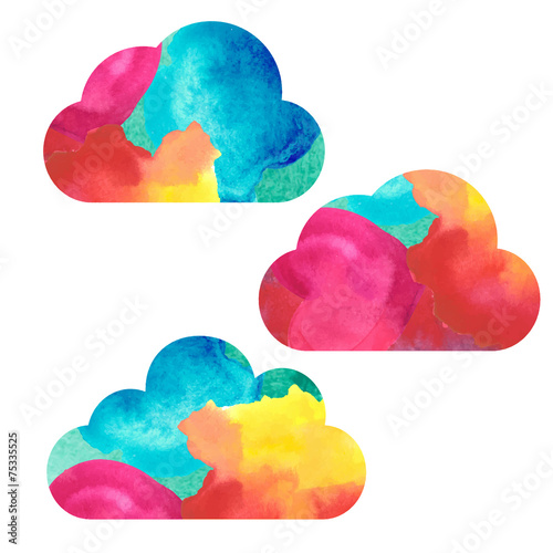 Watercolor sky background