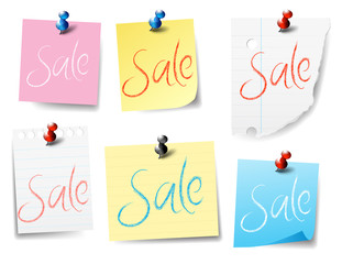 Sale Pinned Paper Notes