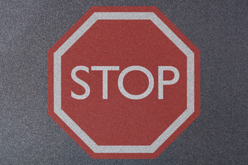 Stop sign filled - Sand Paper texture Series