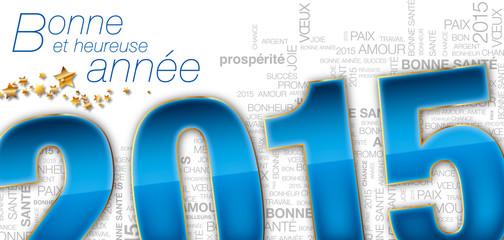 carte de vœux 2015 dorure fond clair kazy