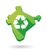 India map icon with a recycle sign