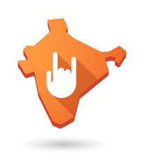 India map icon with a hand